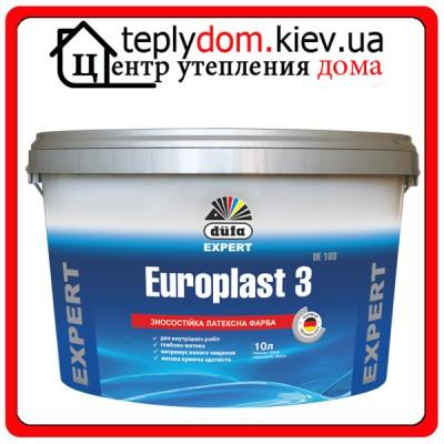 Износостойкая латексная краска Dufa Europlast 3 DE103, 10 л
