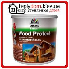 Высокоэффективное декоративное средство для дерева Dufa Wood Protect, белый, 0,75 л