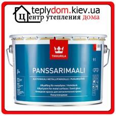 """Алкидная краска для металлических крыш Panssarimaali (Панссаримаали), базис """"A"""", 0,9 л"""