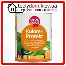 Бесцветное пропиточное средство для обработки наружных деревянных поверхностей Kolorex Protect, 1 л