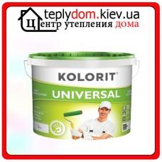 Глубокоматовая краска Kolorit UNIVERSAL, цвет белый, 1 л