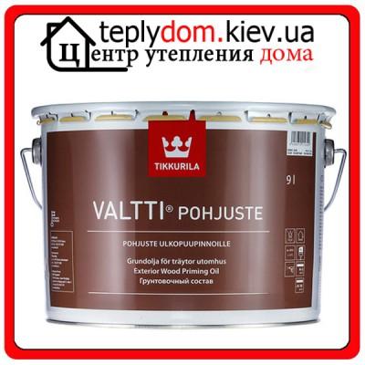 Грунтовочный состав для обработки древесины Valtti Pohjuste (Валтти Похъюсте), Бесцветный, 2,7 л