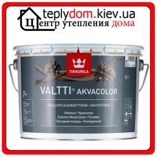 """Лессирующая фасадная лазурь для защиты наружных деревянных поверхностей Valtti Akvacolor (Валтти Акваколор), базис """"ЕP"""", 0,9 л"""