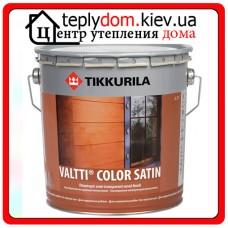 """Лессирующий антисептик для защиты наружных деревянных поверхностей Valtti Color Satin (Валтти Колор Сатин), базис """"ЕC"""", 0,9 л"""