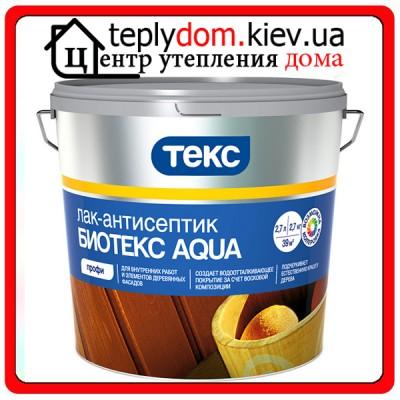 """Лессирующий лак-антисептик для окрашивания деревянного фасада Биотекс """"Aqua"""", 2,7 л"""