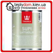 """Масло для деревянных полов Supi Lattiaolju (Супи Масло), базис """"ЕC"""", 0,9 л"""