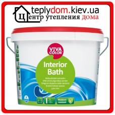 """Полуглянцевая влагостойкая краска для стен и потолков Interior Bath, базис """"A"""", 0,9 л"""
