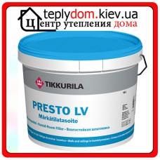 Влагостойкая шпатлевка для стен и потолков Presto LV Märkätilatasoite (Престо ЛВ), 3 л