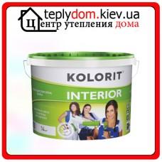 Водно-дисперсионная краска Kolorit INTERIOR, цвет белый, 10 л