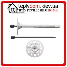 Amex LMD-10х100 Дюбель для крепления изоляции с металлическим гвоздем с термоголовкой