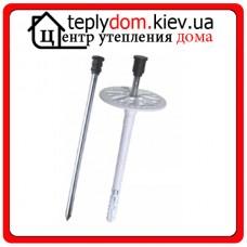 Wkret-met 08x115 Дюбель с короткой распорной базой cо стальным оцинкованным гвоздем с пластмассовой головкой