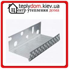Цокольный алюминиевый профиль со слезником 100 мм