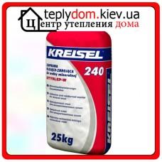 Клеевая смесь для систем утепления с использованием минеральной ваты армирующая Kreisel 240 25 кг