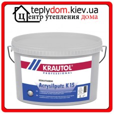 Krautol Krautherm Acrysilputz K 15 фасадная акриловая штукатурка барашек(1.5мм) 25кг