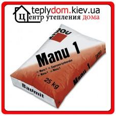 Manu-1 цементно-известковая штукатурная смесь для ручного нанесения 25 кг
