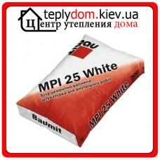 MPI-25 White белая цементно-известковая штукатурная смесь для внутренних работ 25кг