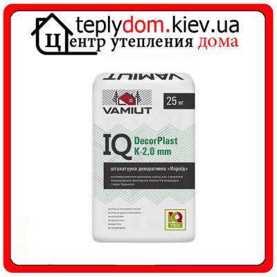 "Штукатурка цементная декоративная ""Камешковая"" IQ DecorPlast T-2 mm Vamiut"